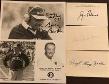 College Football Legendary Coaches Signed Items