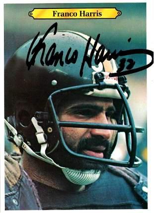 Harris,Franco Signed Football Card