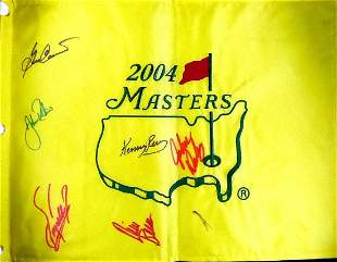 2004 Signed Masters Flag