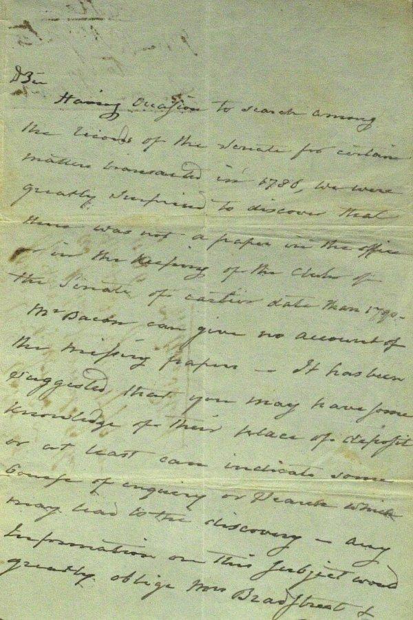 3: Jefferson VP AARON BURR - Autograph Ltr