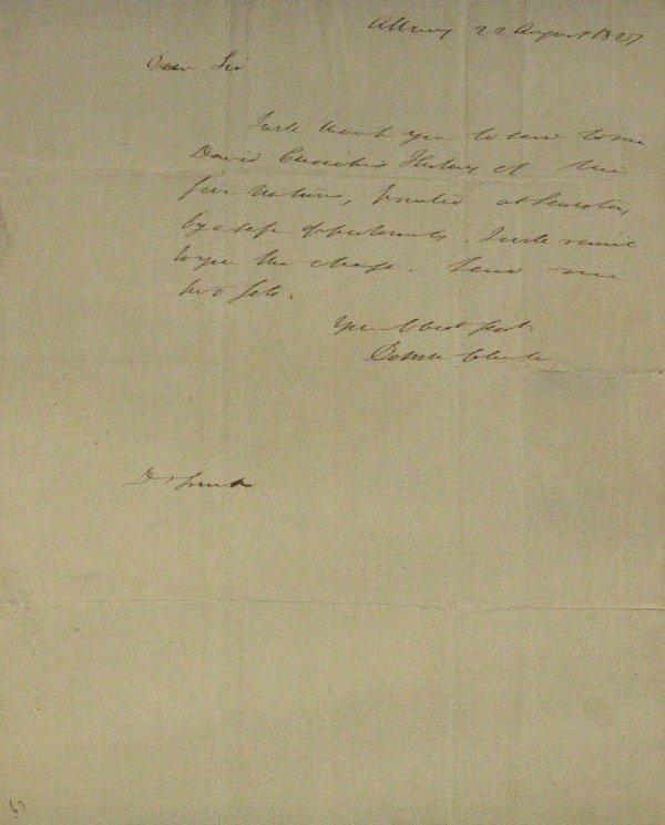 4: Erie Canal DEWITT CLINTON - Autograph Ltr Signed