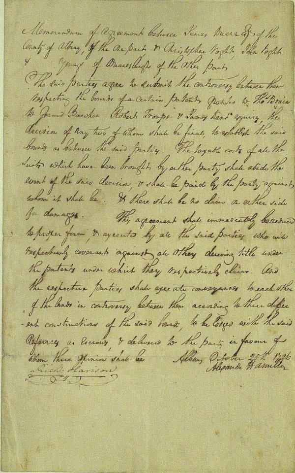 11: Secy Treasury ALEXANDER HAMILTON - Doc Signed