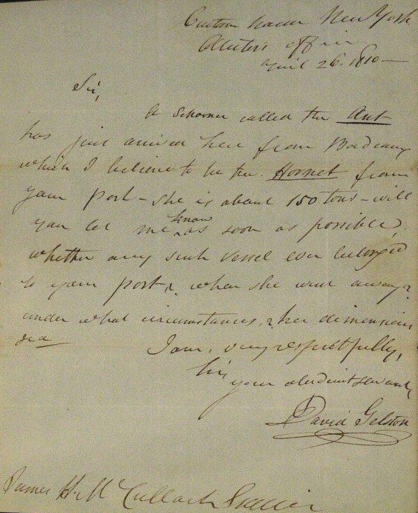 12: Colonial Merchant DAVID GELSON - ALS