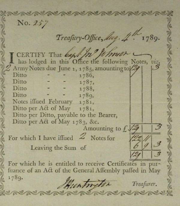 14: General JEDEDIAH HUNTINGTON - Doc Signed