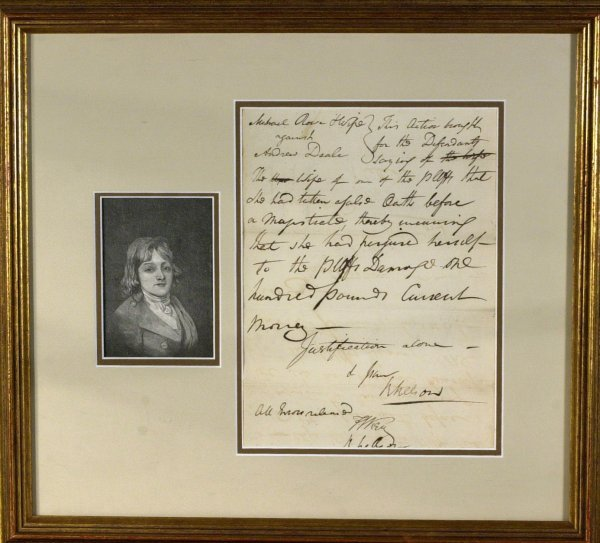 16: FRANCIS SCOTT KEY - Receipt Signed and Framed
