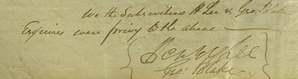 "18: ""Light Horse Harry"" HENRY LEE - Doc Signed"