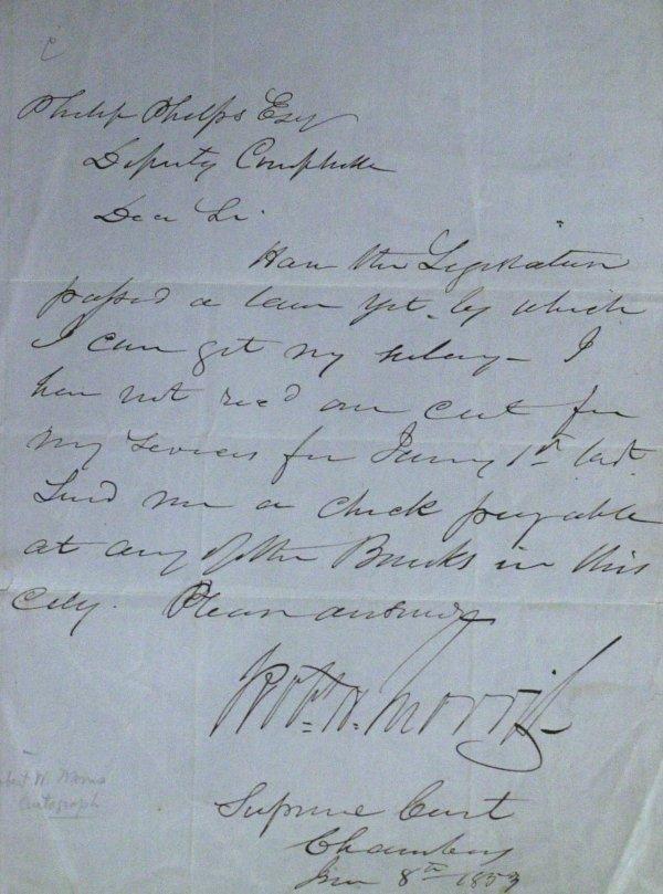 19: Rev War Financier ROBERT MORRIS - Autograph Ltr