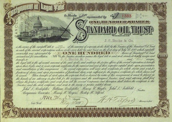 641: FLAGLER and W H TILFORD - Stock Certificate Signed