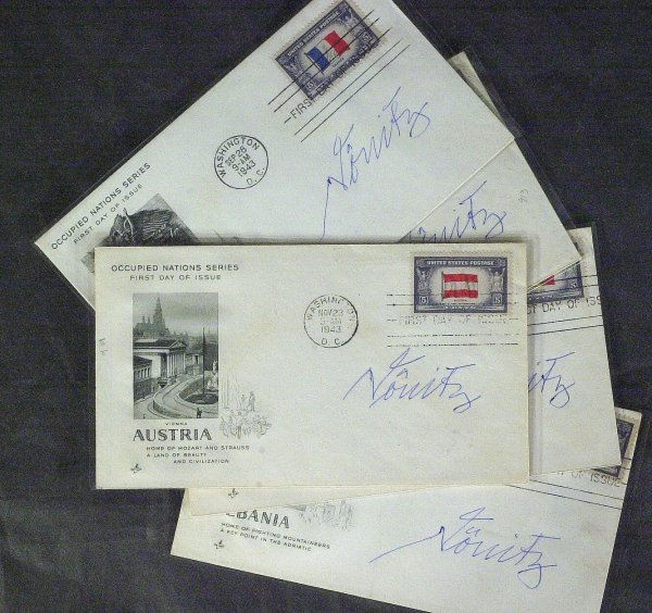 685: German KARL DONITZ - Five First Day Covers Signed