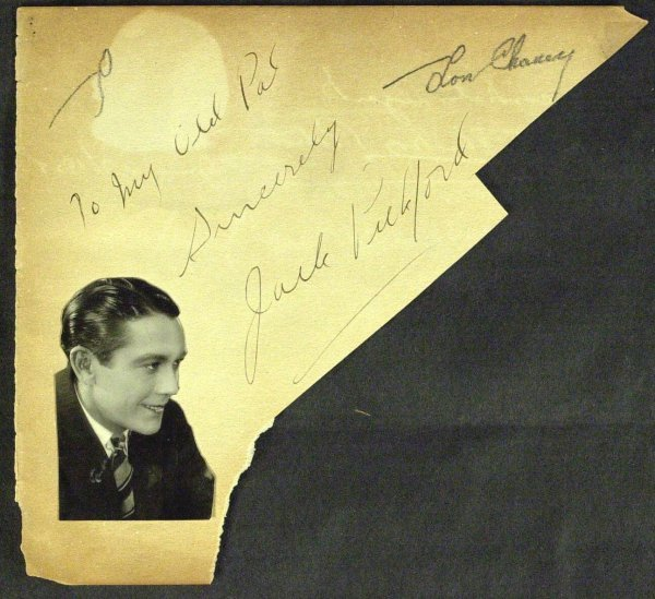747: Actor LON CHANEY, SR - Album Page Signed