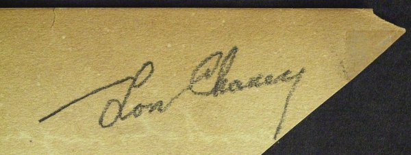 747: Actor LON CHANEY, SR - Album Page Signed - 2