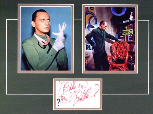 782: The Riddler FRANK GORSHIN - Matted Signature