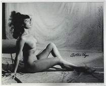 835 BETTIE PAGE and BUNNY YEAGER  Nude Photo Signed