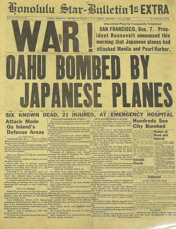 1078: DECEMBER 7, 1941 - Honolulu Newspaper Complete