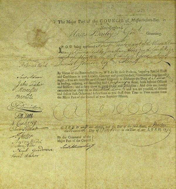 1: Samuel Adams - Document Signed Twice
