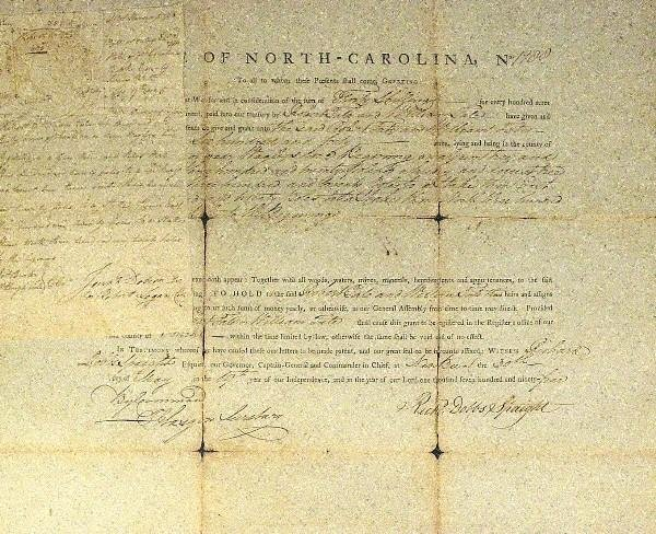 13: NC Gov Richard Dobbs Spaight - Document