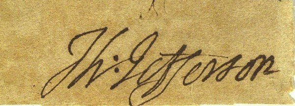 22: Thomas Jefferson - Cut Signature