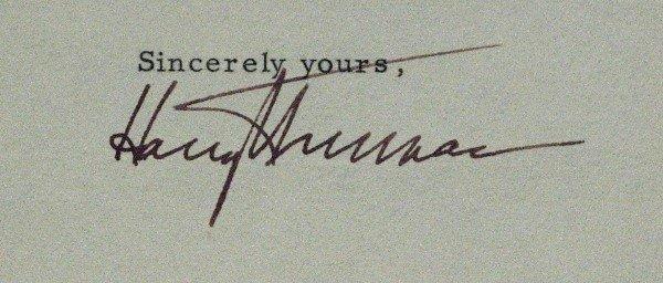 114: Harry S. Truman - Cut Signature