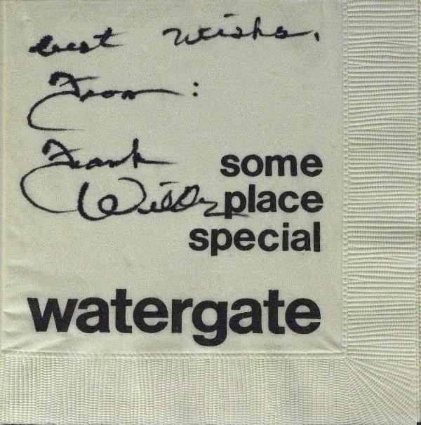 262: Watergate Guard - Frank Wills Napkin