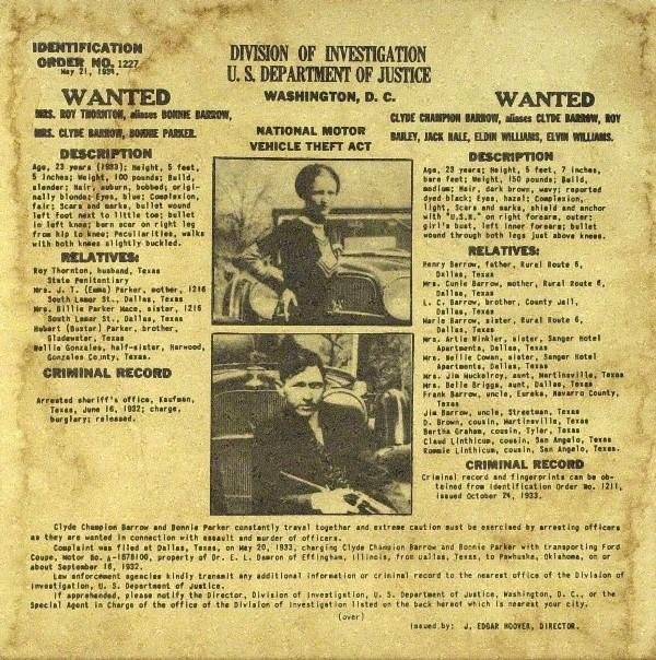 306: (Bonnie & Clyde) Wanted Poster