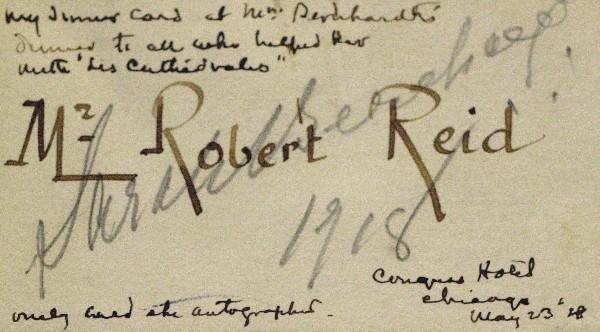 576: Actress Sarah Bernhardt - Card