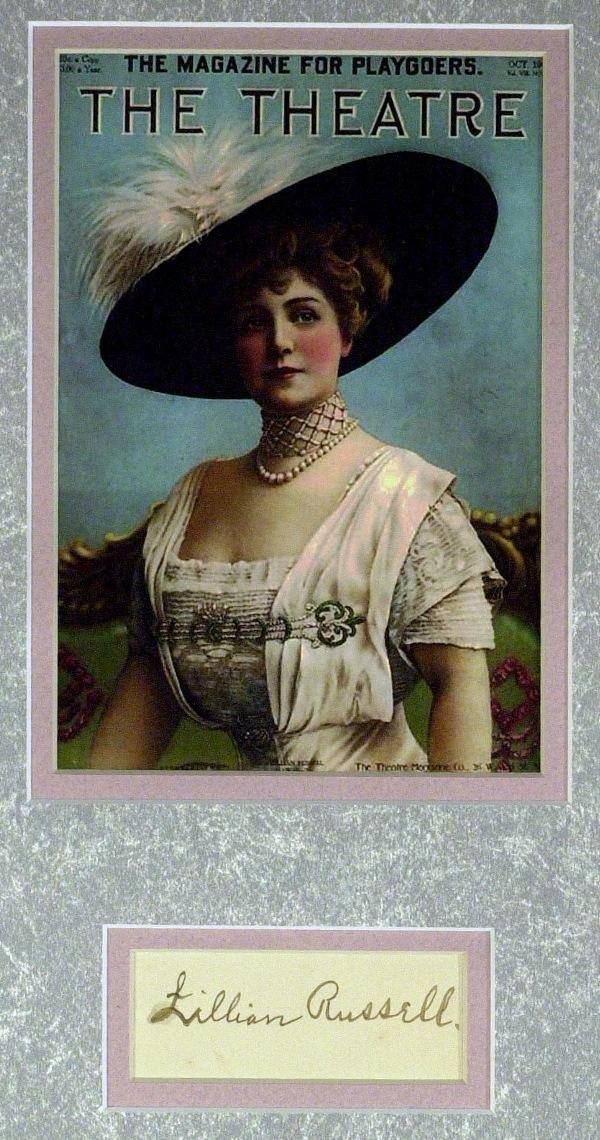579: Actress Lillian Russell - Matted Signature