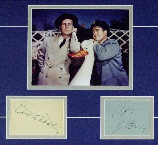 580: Comics Abbott and Costello - Matted Signatures