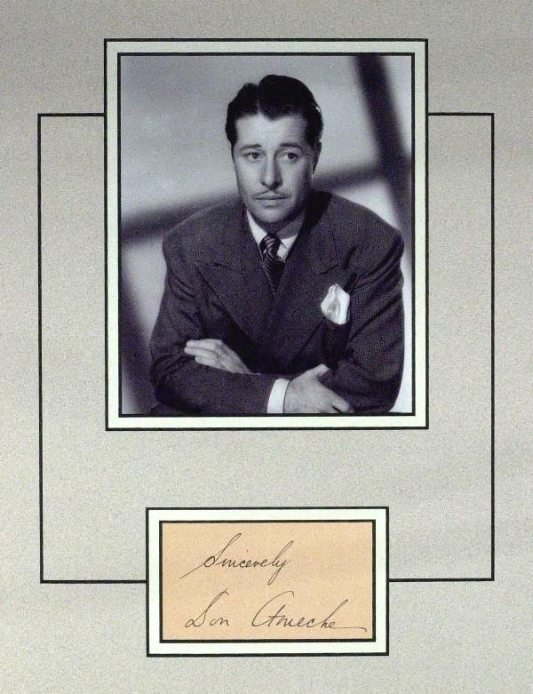 583: Don Ameche - Matted Album page