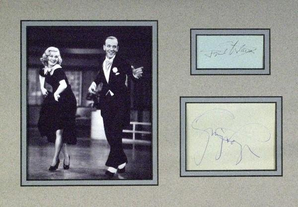 589: Fred Astaire, Ginger Rogers - Matted Cuts