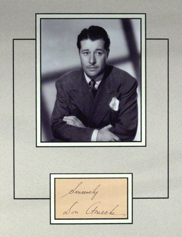 5: DON AMECHE - Matted Signature