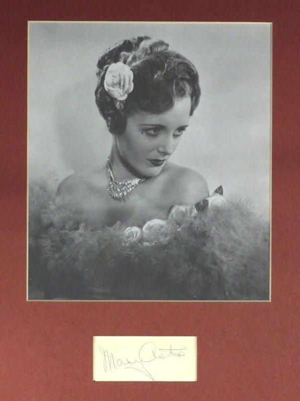 12: MARY ASTOR - Matted Signature