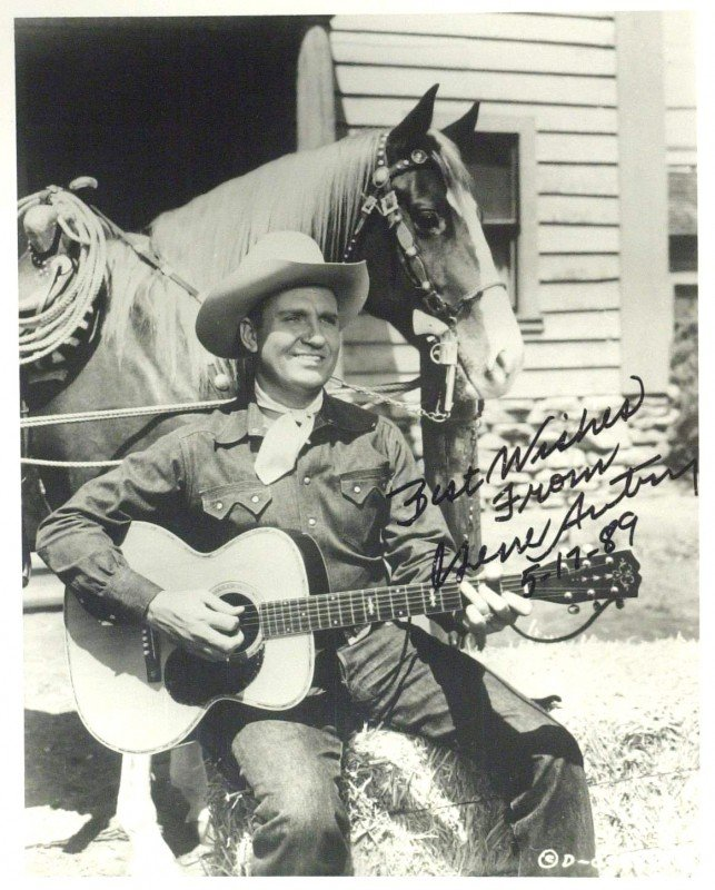 13: Singing Cowboy GENE AUTRY - Photo Signed