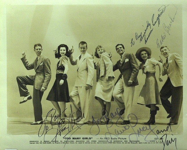 17: LUCILLE BALL - Movie Cast Photo Signed by Five