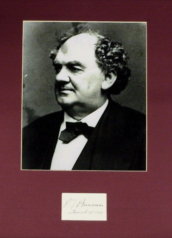 21: Showman P T BARNUM - Card Signed & Matted
