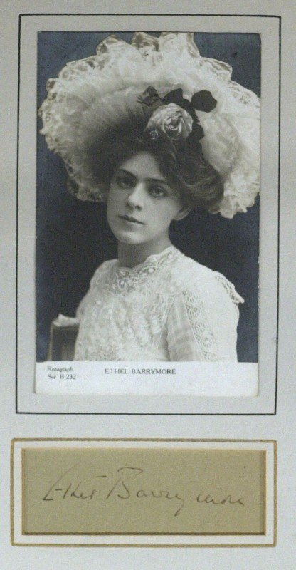 23: Stage Actress ETHEL BARRYMORE - Matted Signature