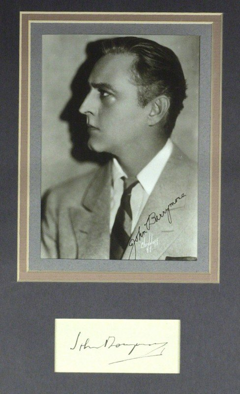 25: Actor JOHN BARRYMORE - Matted Signature