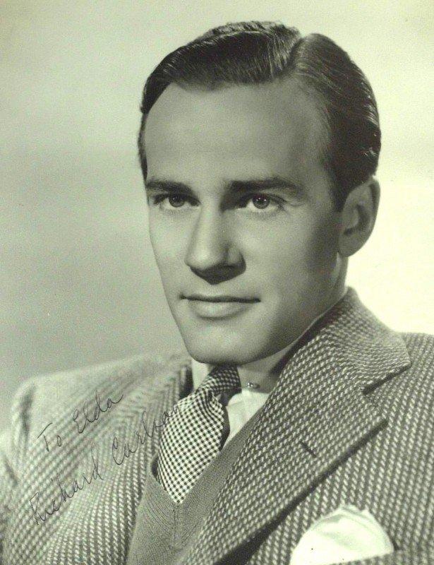 51: Actor RICHARD CARLSON - Matte Photo Signed