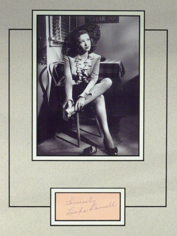 86: Actress LINDA DARNELL - Signature Matted
