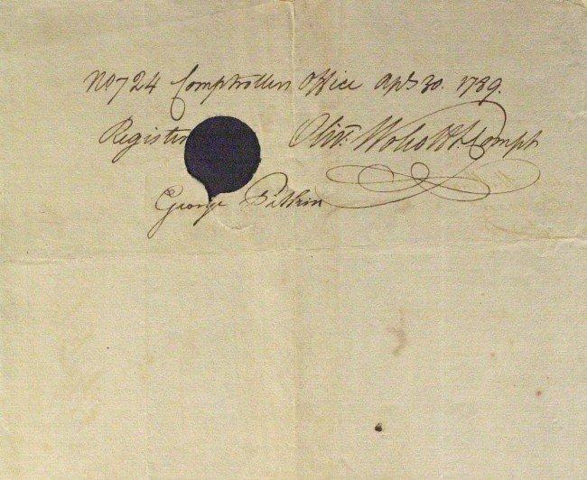397: Jurist ELIPHALET DYER/ WOLCOTT-Payorder Signed
