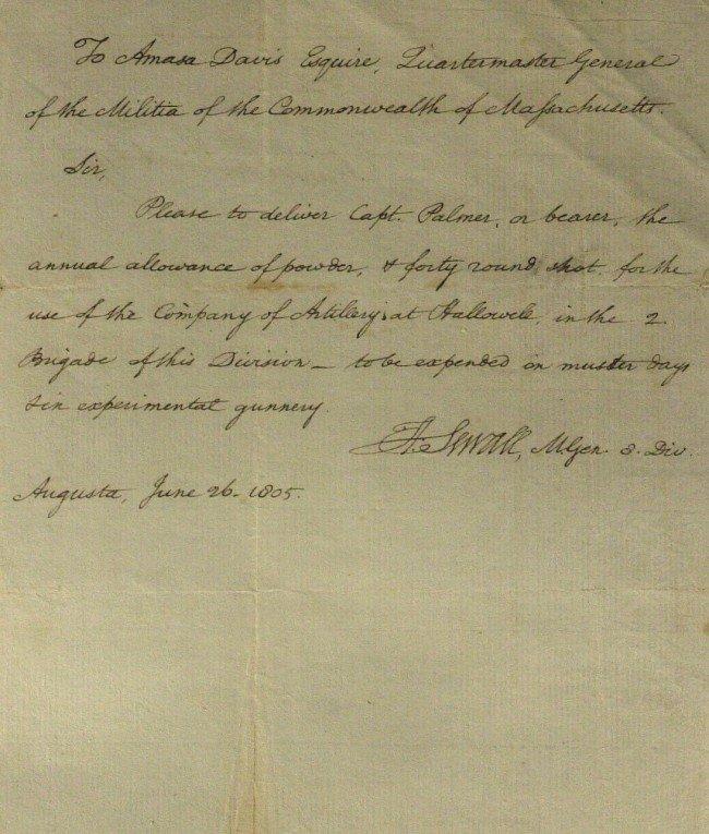 411: Rev War Gen HENRY SEWELL - Autograph Ltr Signed