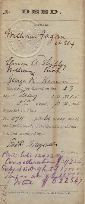 Abolitionst FREDERICK DOUGLAS - Doc Signed