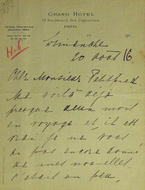 561: German Spy MATA HARI - Autograph Ltr Signed