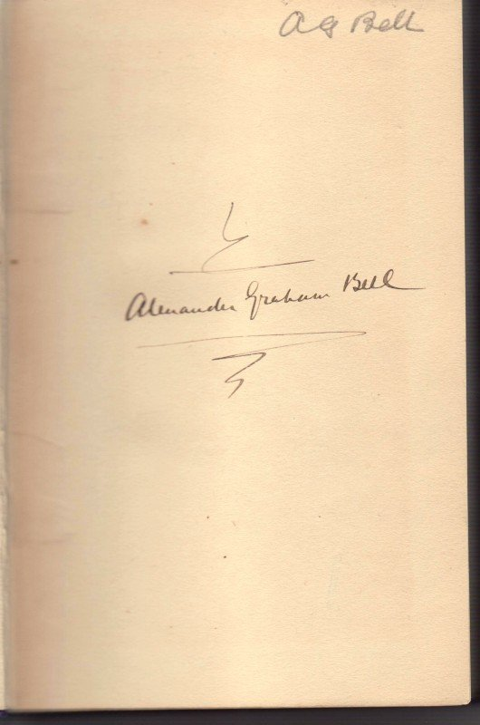 570: ALEXANDER GRAHAM BELL - Book From His Library