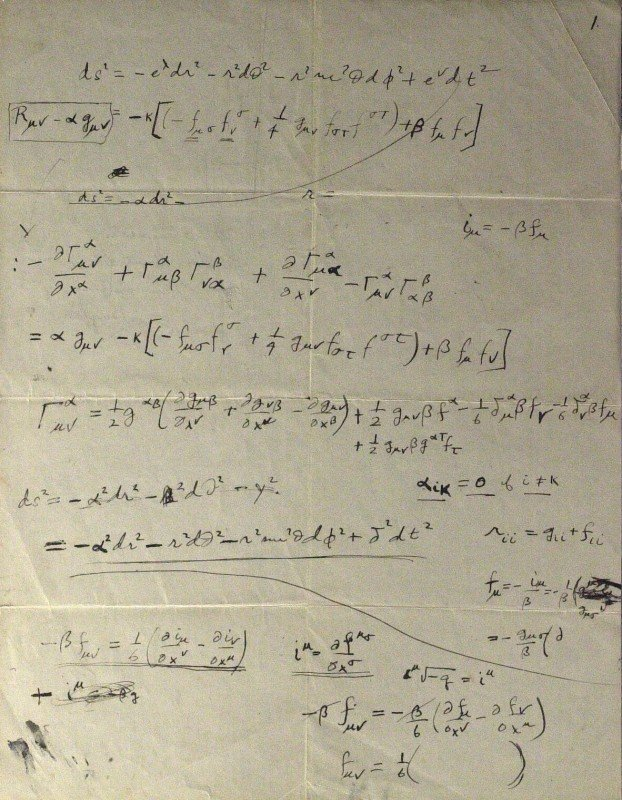 578: ALBERT EINSTEIN - Mathmatical Formula Signed