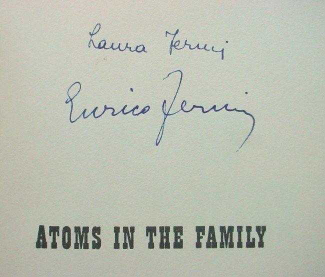 581: A-Bomb ENRICO FERMI - Book Signed