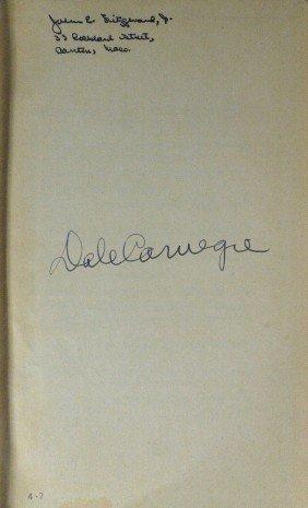 Motivator DALE CARNEGIE - His Book Signed