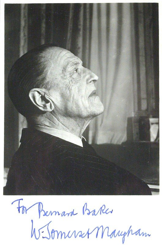 625: Author W SOMERSET MAUGHAM - Photo Signed