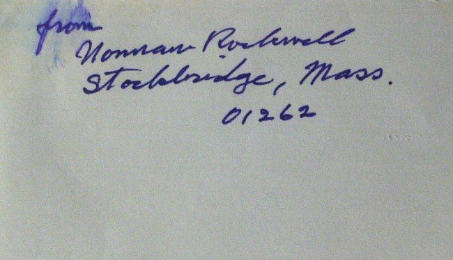 645: Painter NORMAN ROCKWELL - Postal Cover Signed