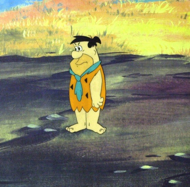649: ANIMATION - FLINTSTONES - Production Art & Cel