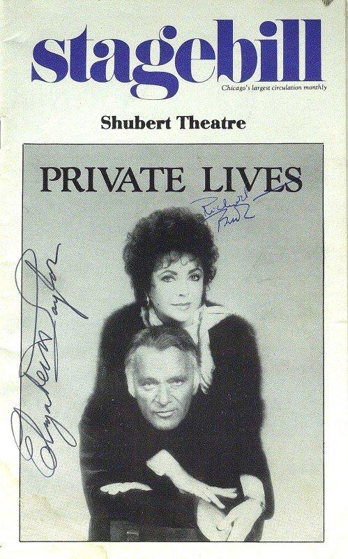 892: ELIZABETH TAYLOR & RICHARD BURTON- Playbill Signed